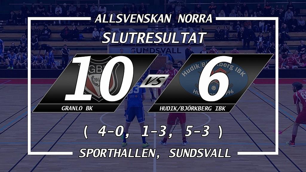 Efter en horribel förstaperiod förlorar vi med 10-6 i Sundsvall mot ett för  dagen bättre Granlo BK. Efter första perioden stod det hela 4-0 till  hemmalaget ... 7b102579122b6