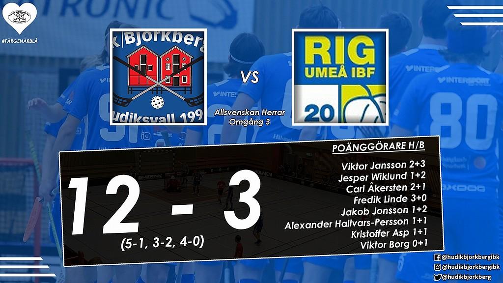 Det blev en bekväm seger hemma mot RIG Umeå IBF. 35e0fcacf5157